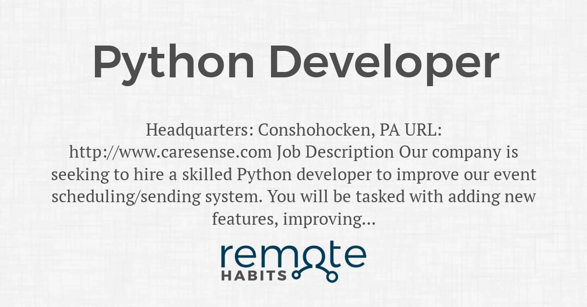 Python Job Scheduler
